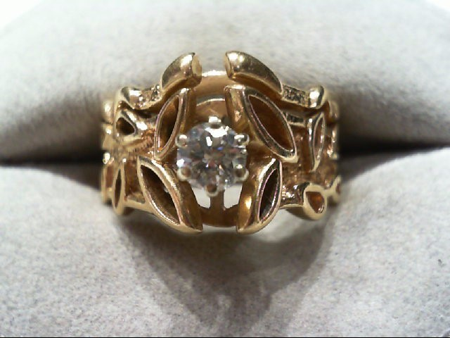 Lady's Diamond Wedding Set .32 CT. 14K Yellow Gold 7.6g