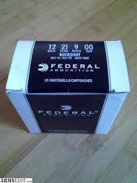 FEDERAL AMMUNITION Ammunition 12GA 00 BUCK 25 ROUNDS