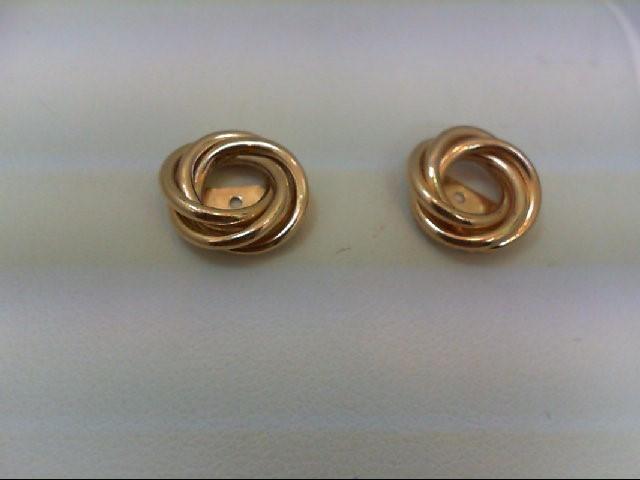 Gold Earrings 10K Yellow Gold 1g