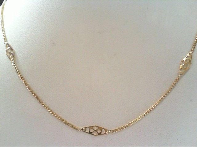 "18"" Gold Fashion Chain 14K Yellow Gold 2.5g"