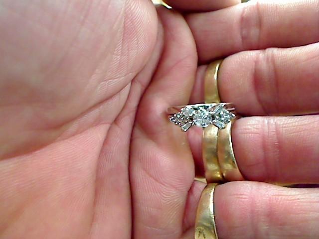 Lady's Diamond Wedding Set 13 Diamonds .58 Carat T.W. 14K White Gold 3.4dwt