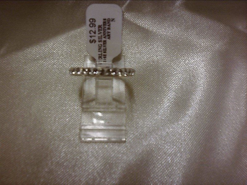 ROSE SILVER ANNIVERSARY BAND SIZE7