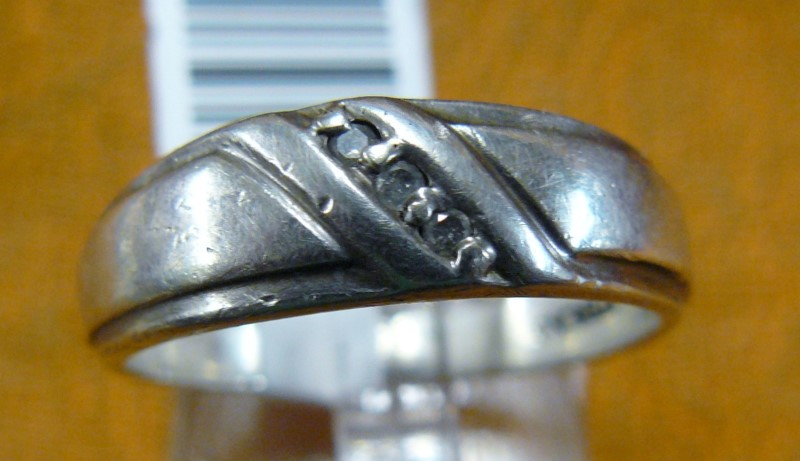Gent's Silver Ring 925 Silver 3.31dwt Size:9.8