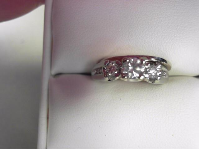 Lady's Diamond Wedding Set 9 Diamonds .51 Carat T.W. 14K White Gold 7.16g