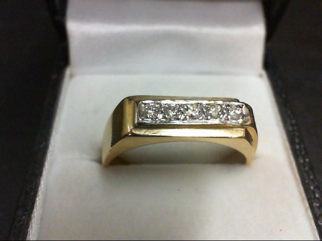 Lady's Diamond Wedding Band 5 Diamonds 0.27 Carat T.W. 14K Yellow Gold 6g