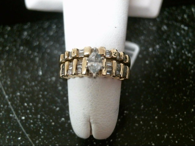 Lady's Diamond Wedding Set 13 Diamonds .36 Carat T.W. 14K Yellow Gold 6.4g