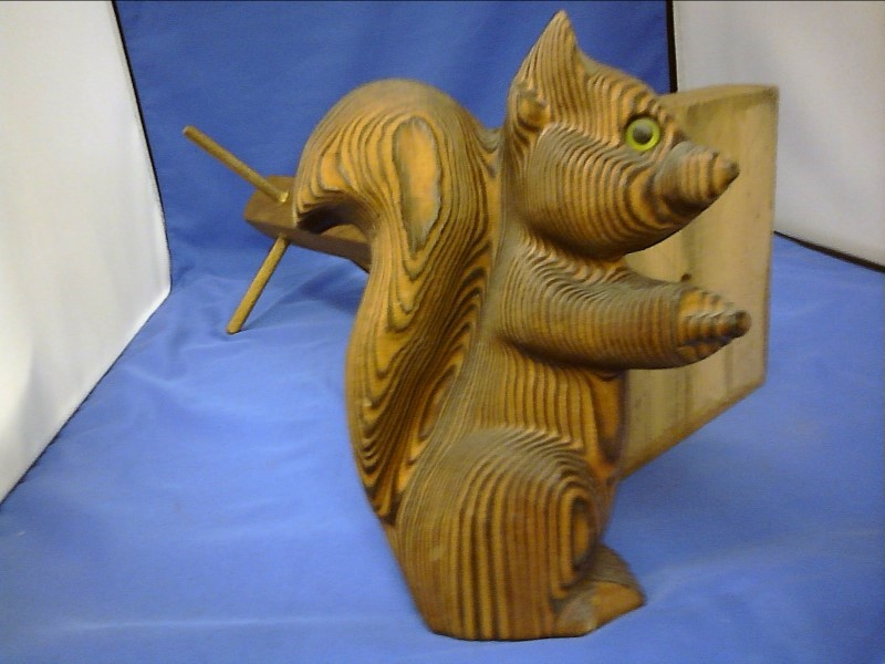 MISC COLLECTIBLES MISC USED MERCH MISC USED MERCH; WOODEN SQUIRREL