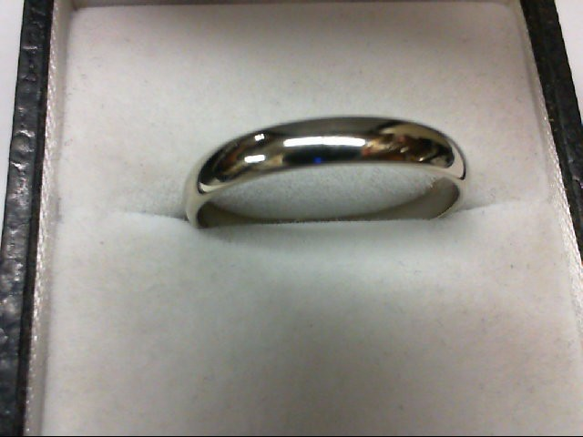 Lady's Gold Wedding Band 14K White Gold 2.1g