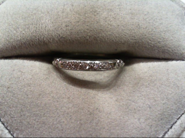 Lady's Diamond Wedding Band 5 Diamonds .05 Carat T.W. 14K White Gold 1.7g