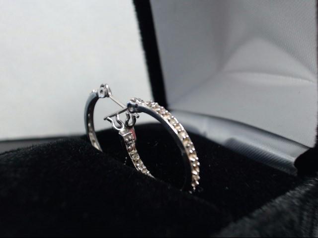 Gold Earrings 10K White Gold 1.82g