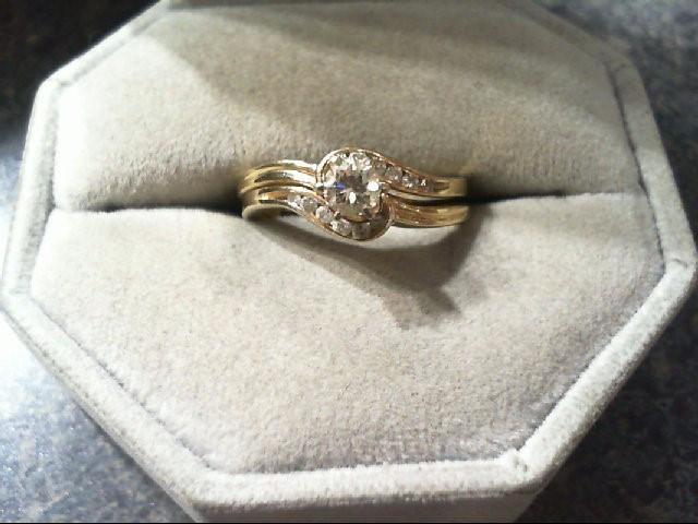 Lady's Diamond Wedding Set 13 Diamonds .49 Carat T.W. 14K Yellow Gold 3.7g