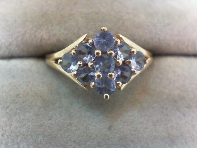 Tanzanite Lady's Stone Ring 10K Yellow Gold 1.7g