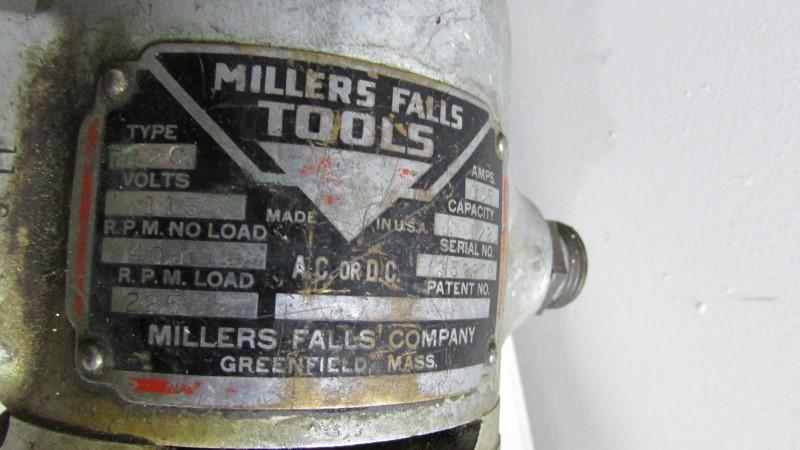 MILLERS FALLS 712C DRILL