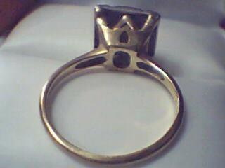 Lady's Diamond Cluster Ring 7 Diamonds 0.07 Carat T.W. 10K Yellow Gold 3.4g Size