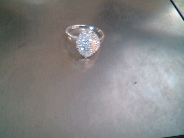 Lady's Diamond Cluster Ring 44 Diamonds .44 Carat T.W. 10K White Gold 1.65dwt