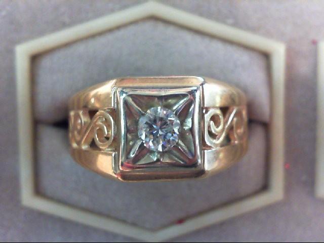 Gent's Diamond Fashion Ring .29 CT. 14K Yellow Gold 4.9g
