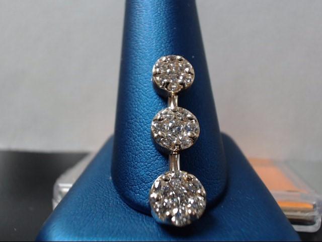 Gold-Multi-Diamond Pendant 21 Diamonds 1.74 Carat T.W. 14K Yellow Gold 4.09g