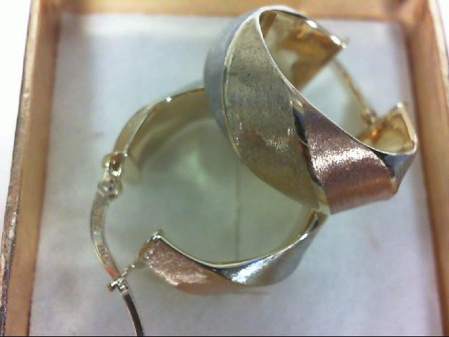 Gold Earrings 14K Tri-color Gold 2.6g