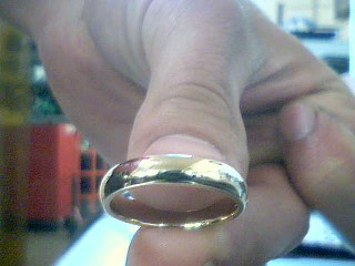 Gent's Gold Wedding Band 14K Yellow Gold 5.01g Size:7.5