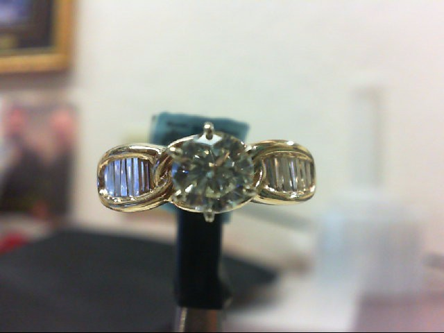 Lady's Gold-Diamond Anniversary Ring 15 Diamonds 1.50 Carat T.W.