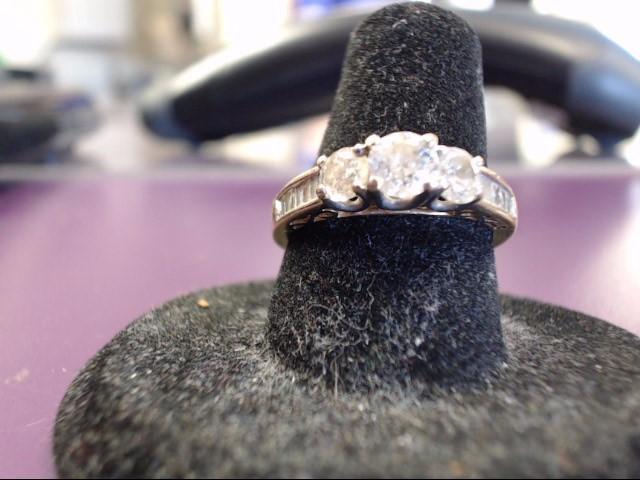 Lady's Diamond Fashion Ring 15 Diamonds 1.04 Carat T.W. 10K Yellow Gold 3.1g