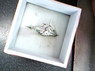 Lady's Diamond Engagement Ring .50 CT. 14K White Gold 2.17g