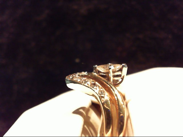 Lady's Diamond Wedding Set 10 Diamonds .58 Carat T.W. 14K Yellow Gold 5.61g