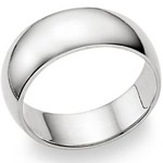 Gent's Silver Wedding Band 925 Silver 6.1g Size:14