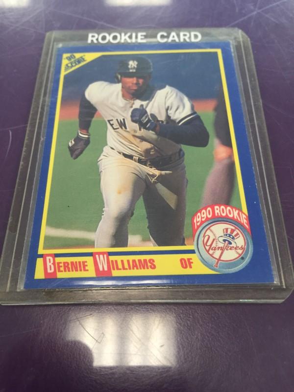 SCORE 619 BERNIE WILLIAMS NEW YORK YANKEES ROOKIE CARD