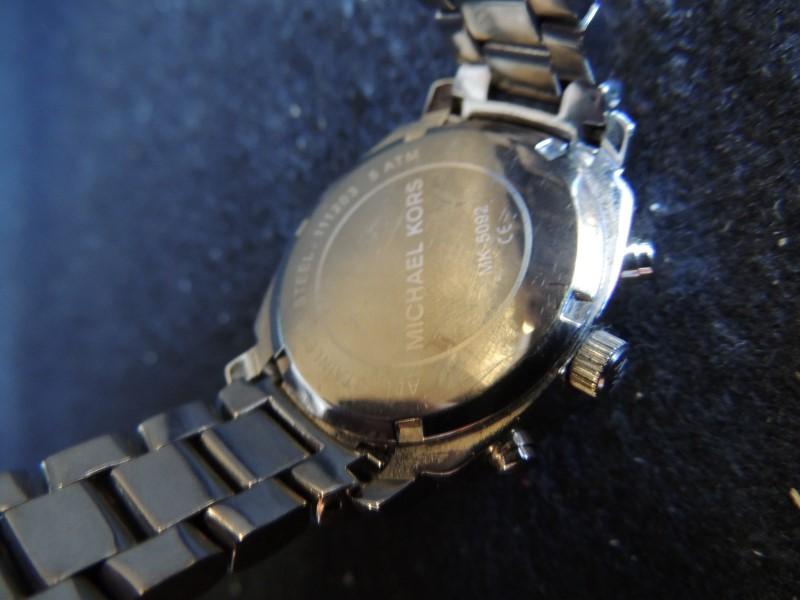 Michael Kors MK5092 WOMEN'S MOP WOLCOTT CHRONOGRAPH SILVER TONE CRYSTALS WATCH