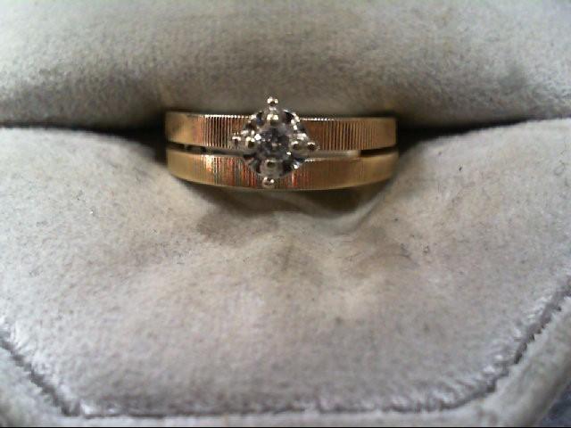 Lady's Diamond Wedding Set .05 CT. 10K Yellow Gold 2.7g