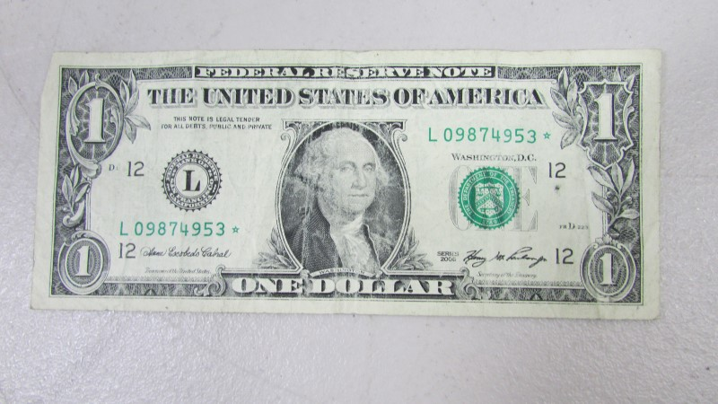 UNITED STATES MONEY $1 BILL 2006