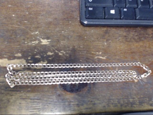 "30"" Gold Curb Chain 10K Yellow Gold 12.5g"