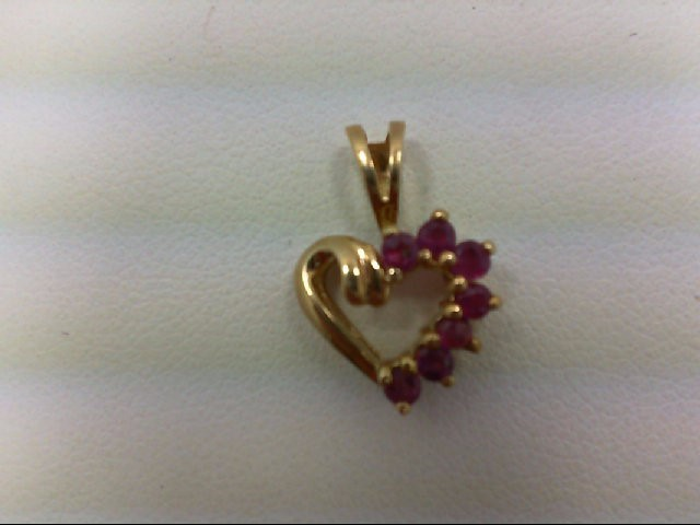 Ruby Gold-Stone Pendant 10K Yellow Gold 0.7g