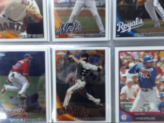 MISC SPORTS CARDS IN BLUE BINDER