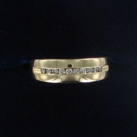 Gent's Gold Wedding Band 14K Yellow Gold 4.5dwt