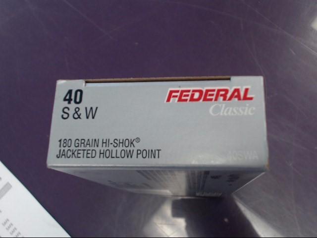 FEDERAL AMMUNITION Ammunition 40 SWB 155 GR HI-SHOCK JHP