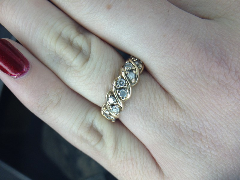 Lady's Diamond Fashion Ring 10 Diamonds 1.40 Carat T.W. 10K Yellow Gold 3.3g