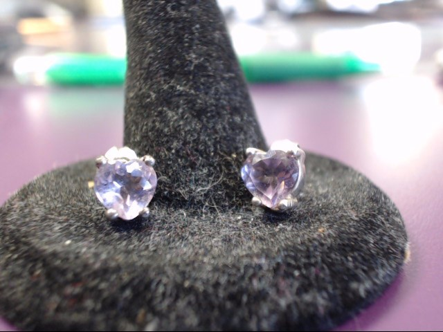 Amethyst Silver-Stone Earrings 925 Silver 1.4g