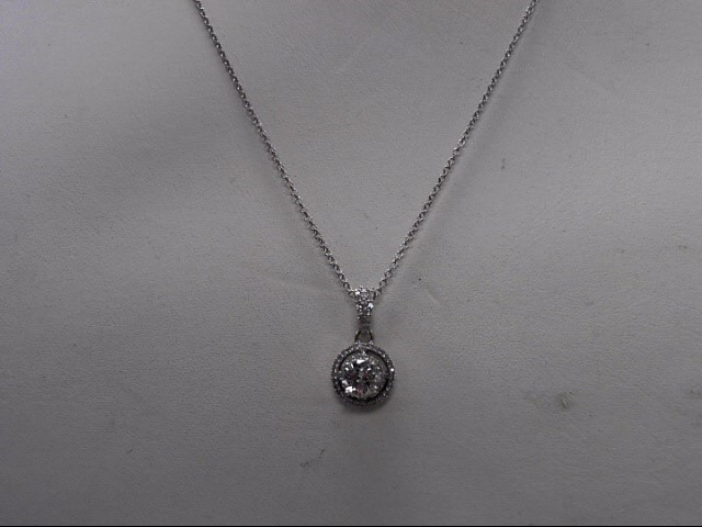 Diamond Necklace .40 CT. 14K White Gold 2.2g