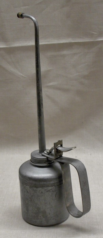 "PLEWS VINTAGE OILER- MADE IN USA, HEIGHT 13"", BASE 3 1/2"""