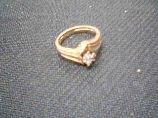 Lady's Diamond Wedding Set 7 Diamonds .95 Carat T.W. 14K Yellow Gold 4.9g