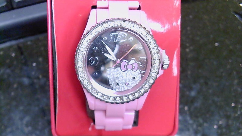 NEW HELLO KITTY PINK  CRYSTAL WATCH