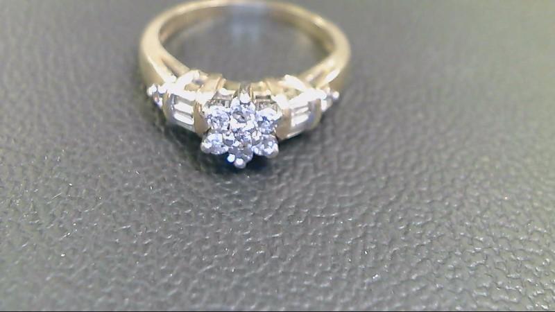 Lady's Diamond Cluster Ring 13 Diamonds .71 Carat T.W. 14K Yellow Gold 4.3g