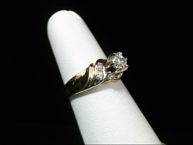 Lady's Diamond Engagement Ring 13 Diamonds .50 Carat T.W. 14K Yellow Gold 3.2g