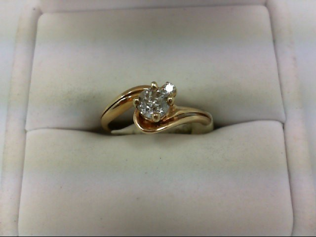 Lady's Diamond Wedding Set 2 Diamonds 0.55 Carat T.W. 14K Yellow Gold 3.1g