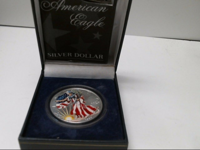 UNITED STATES Silver Coin 1999 - PAINTED SILVER EAGLE