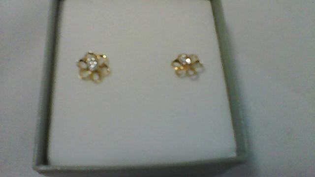 Gold Earrings 10K Yellow Gold 0.32g