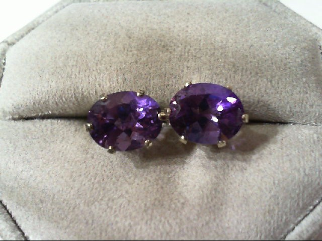 Amethyst Silver-Stone Earrings 925 Silver 2.2g