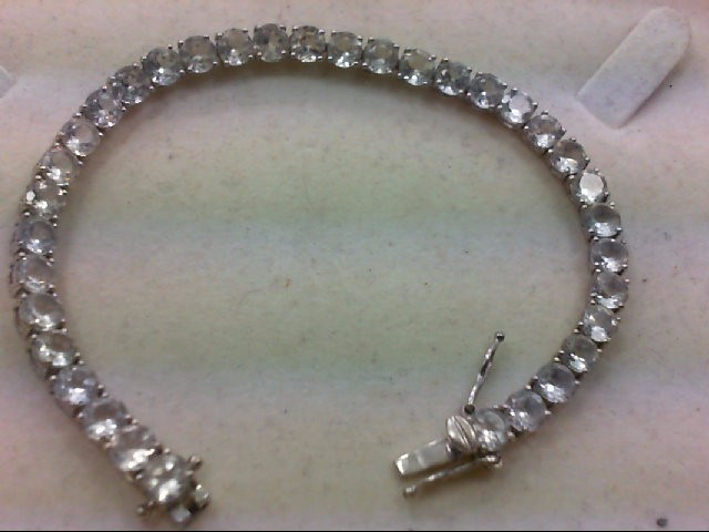 White Stone Silver-Stone Bracelet 925 Silver 14.9g